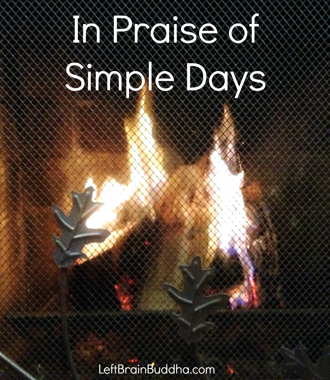 In Praise of Simple Days